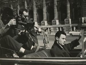 Jen-Luc Godard filming 'Le Petit Soldat', 1963. Photograper unknown